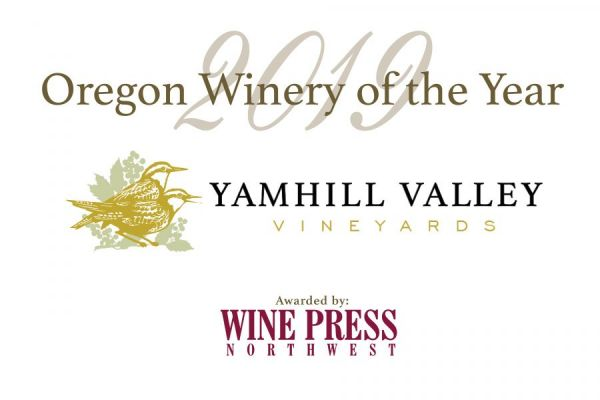 2019 Oregon Winery of the Year graphic with Yamhill Valley Vineyards logo and Wine Press Northwest logo.